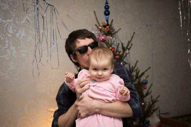Папа и доченька))))